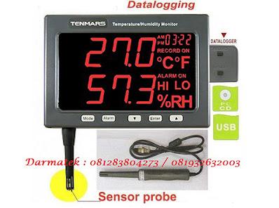 Darmatek Jual Tenmars TM-185 / TM-185D Temperature Humidity and Datalogger