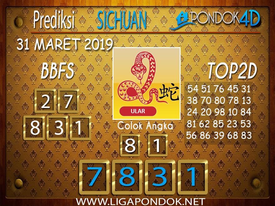 Prediksi Togel SICHUAN PONDOK4D 31 MARET 2019