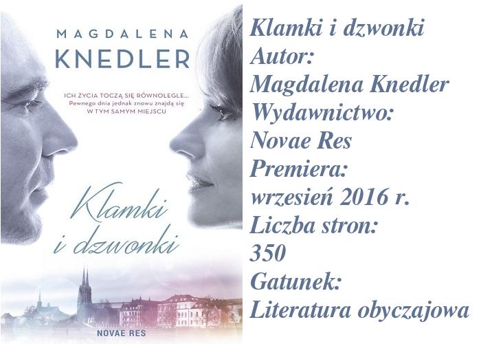 """Moje pierwsze zderzenie z piórem Magdaleny Knedler. Jak było? """"Klamki i dzwonki""""."""