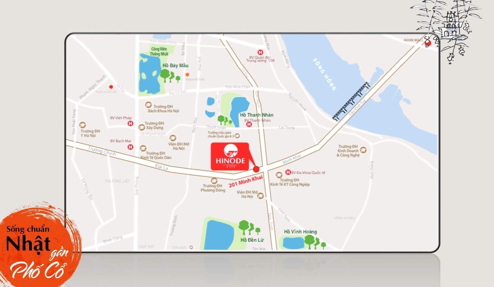 Hinode City vị trí đắc địa trái tim của Thủ Đô Hà Nội