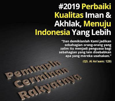 Tahun 2019 perbaiki kualitas iman dan akhlak untuk menuju Indonesia yang lebih baik (shared  by karyafikri.blogspot.com)
