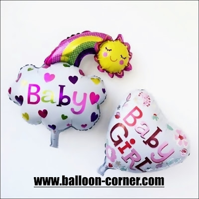 Balon Foil Baby Girl Rainbow