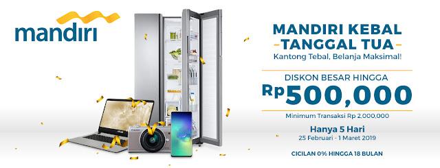 #BliBli - #Promo DIskon Hingga 500K Pakai Kartu Kredit Mandiri (s.d 01 Maret 2019)