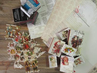 Streichholzschachteln weihnachtlich gestalten