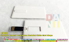 Souvenir Promosi Perusahaan Flashdisk White Card Shape