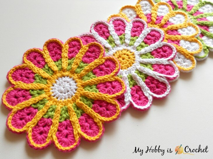 Chrysanthemum Coaster – Free Crochet Pattern Review