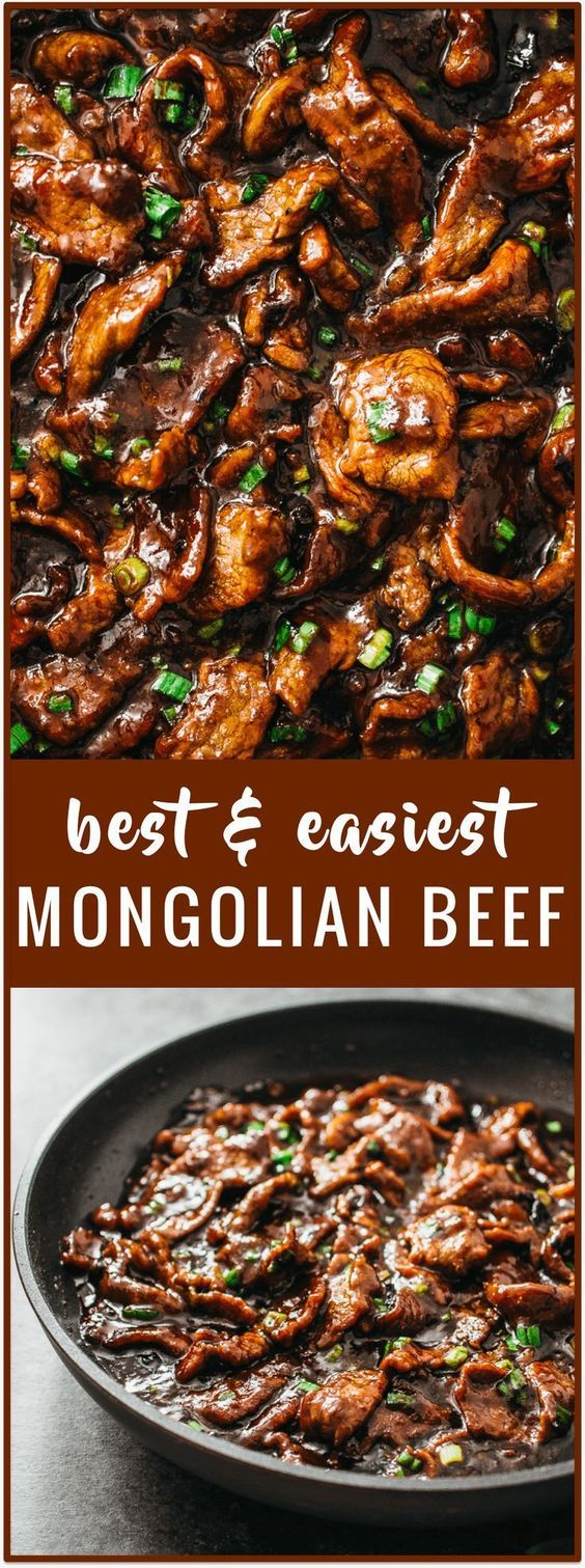Mongolian beef is a fast and easy 15-minute stir-fry recipe with tender beef slices and a bold sticky sauce with a hint of spiciness. It can be served with steamed rice or noodles. Watch a step-by-step recipe video below.