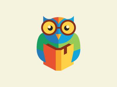 Smart Owl Flat Logo Design