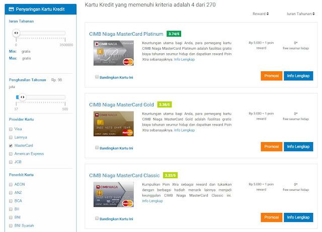 pemilihan kartu kredit dengan cermati.com