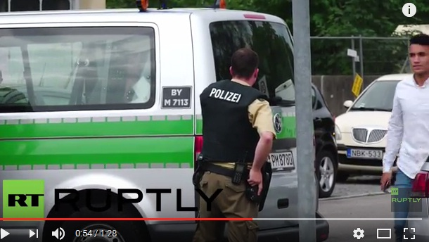 Video: Police Respond To Shooting Spree in Munich's Olympia Shopping Mall