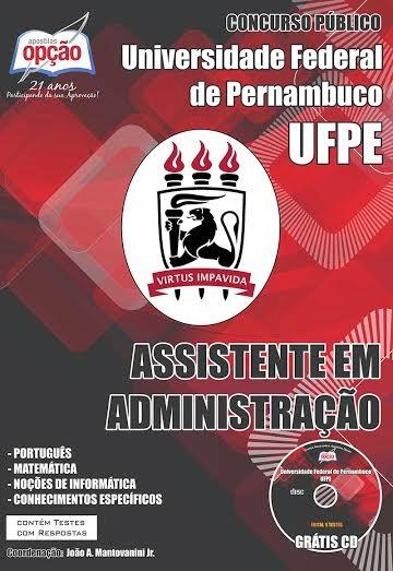 Apostila UFPE - Universidade Federal de Pernambuco - Assistente em Administração