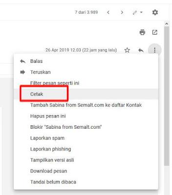 Cara Print Email di Gmail Secara Langsung