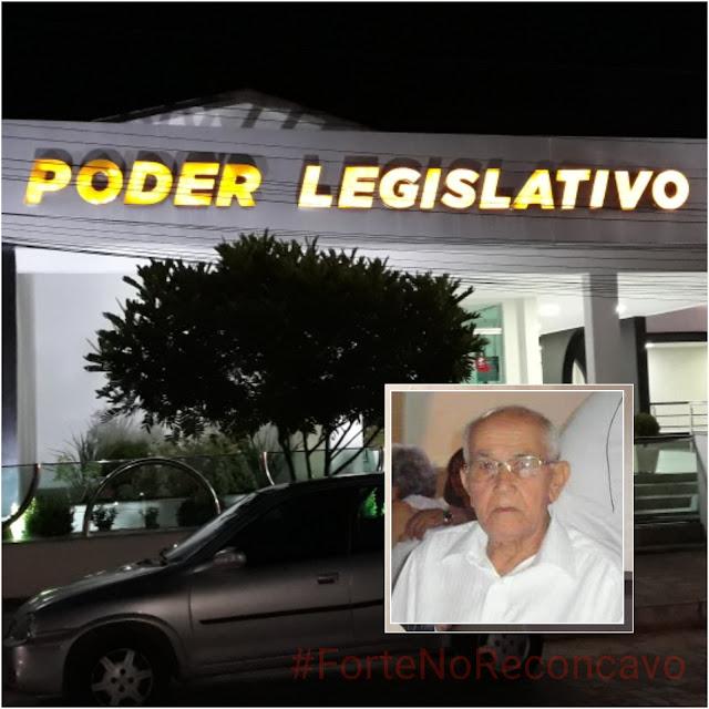 CRUZ DAS ALMAS: Corpo de Sr. Vardinho é velado na Câmara Municipal