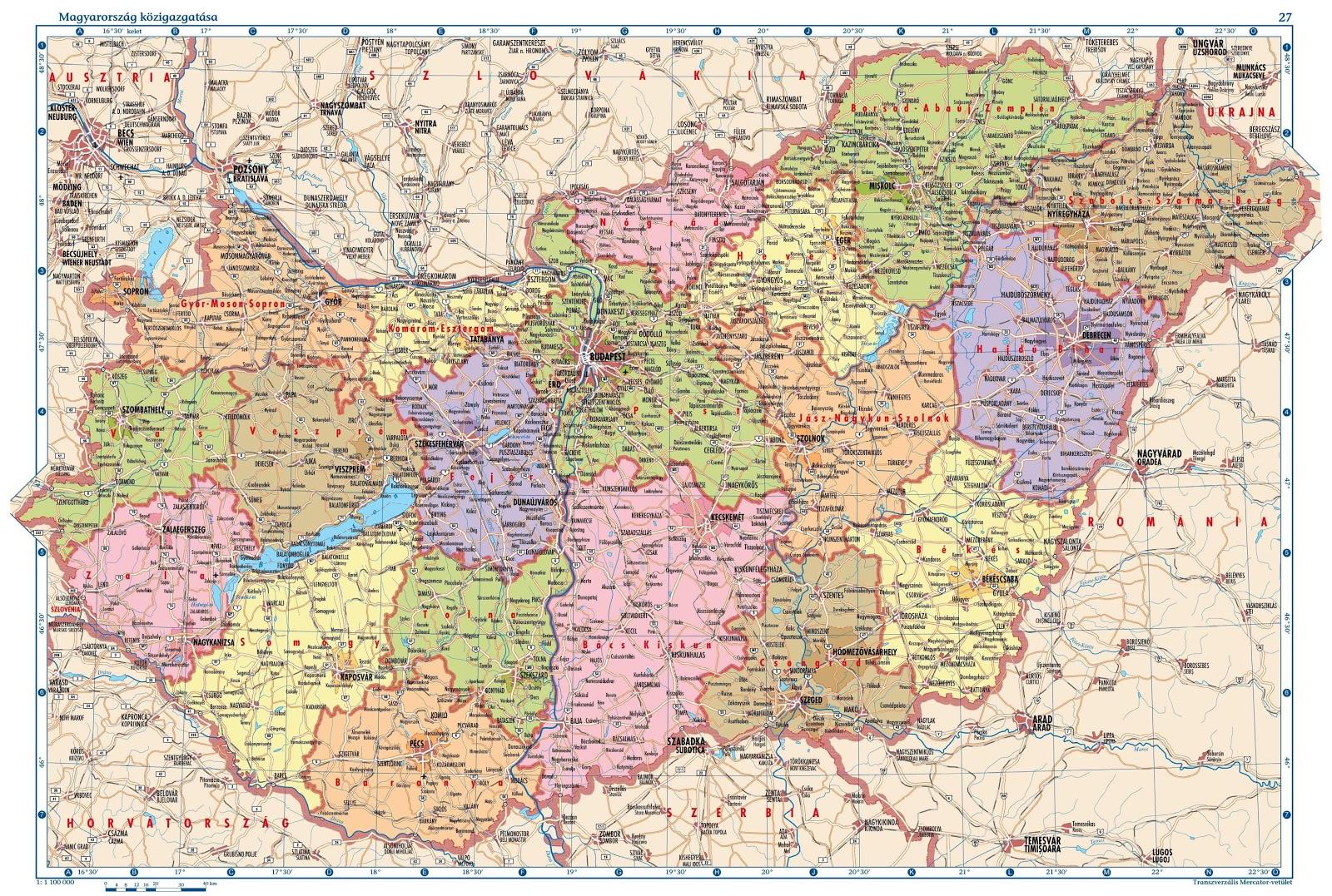 Hungria | Mapas Geográficos da Hungria