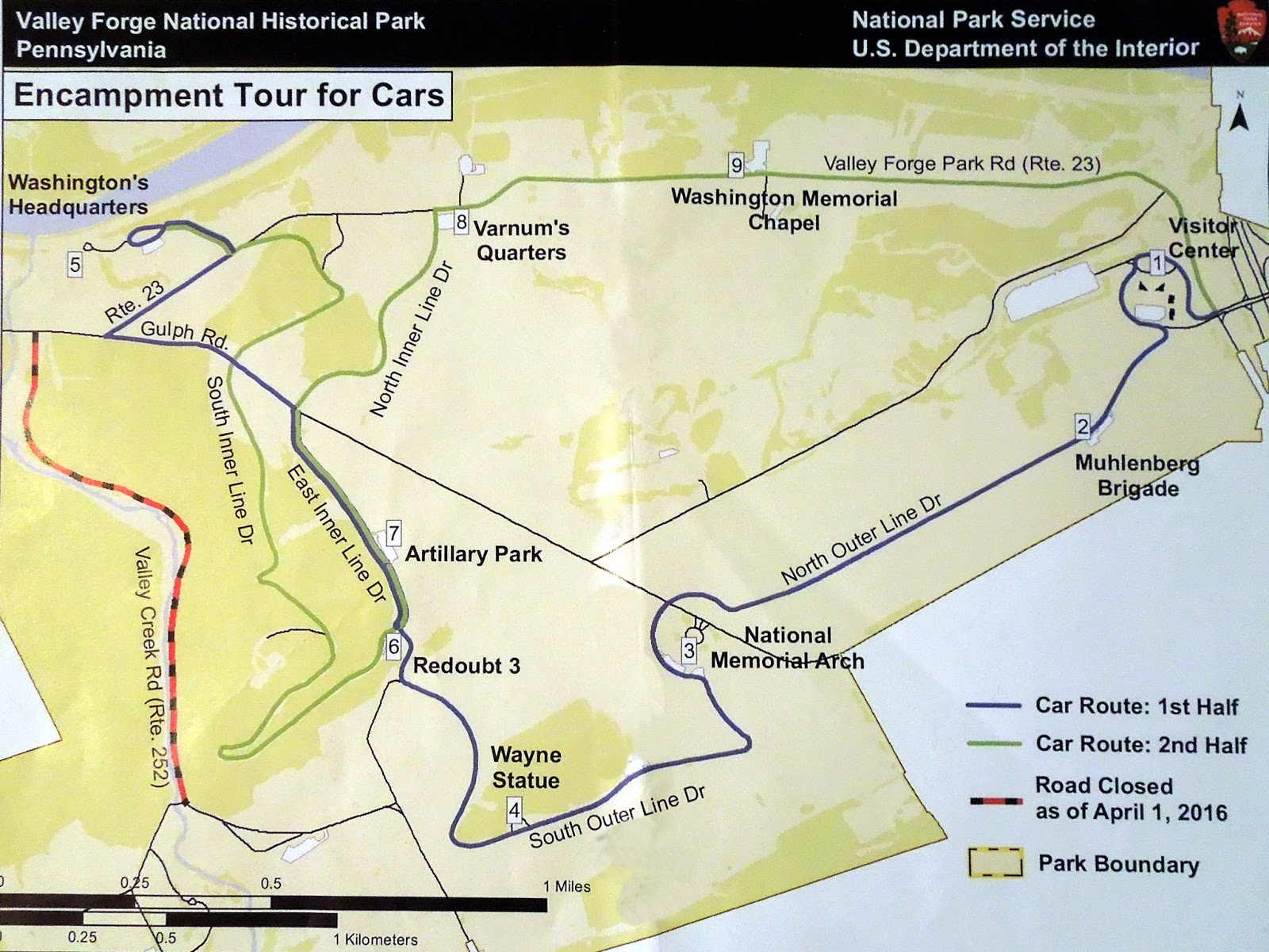 nps park map driving tour