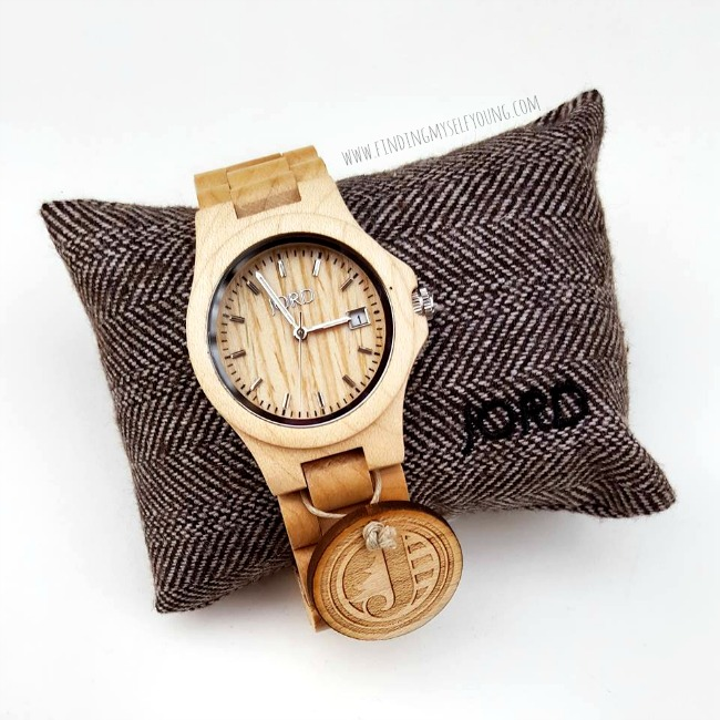 Jord Ely maple wooden watch clock face.