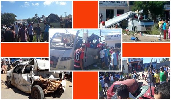 SEABRA-BA: 'Perda' dos freios de caminhão pode ter sido causa de acidente que deixou 6 mortos e 23 feridos.