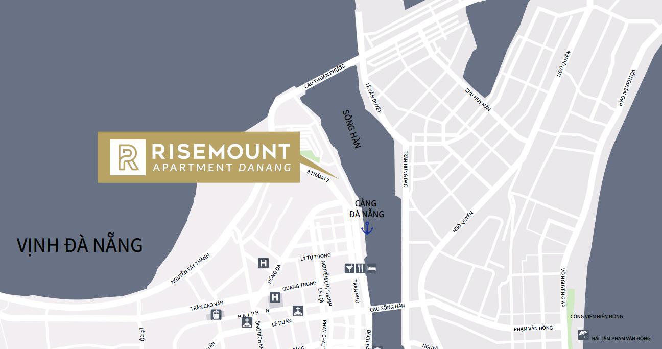 Vị trí đắc địa của dự án Risemount Apartment Đà Nẵng