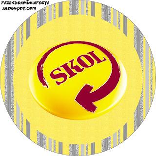 Skol Kit Completo Com Molduras Para Convites Rotulos Para