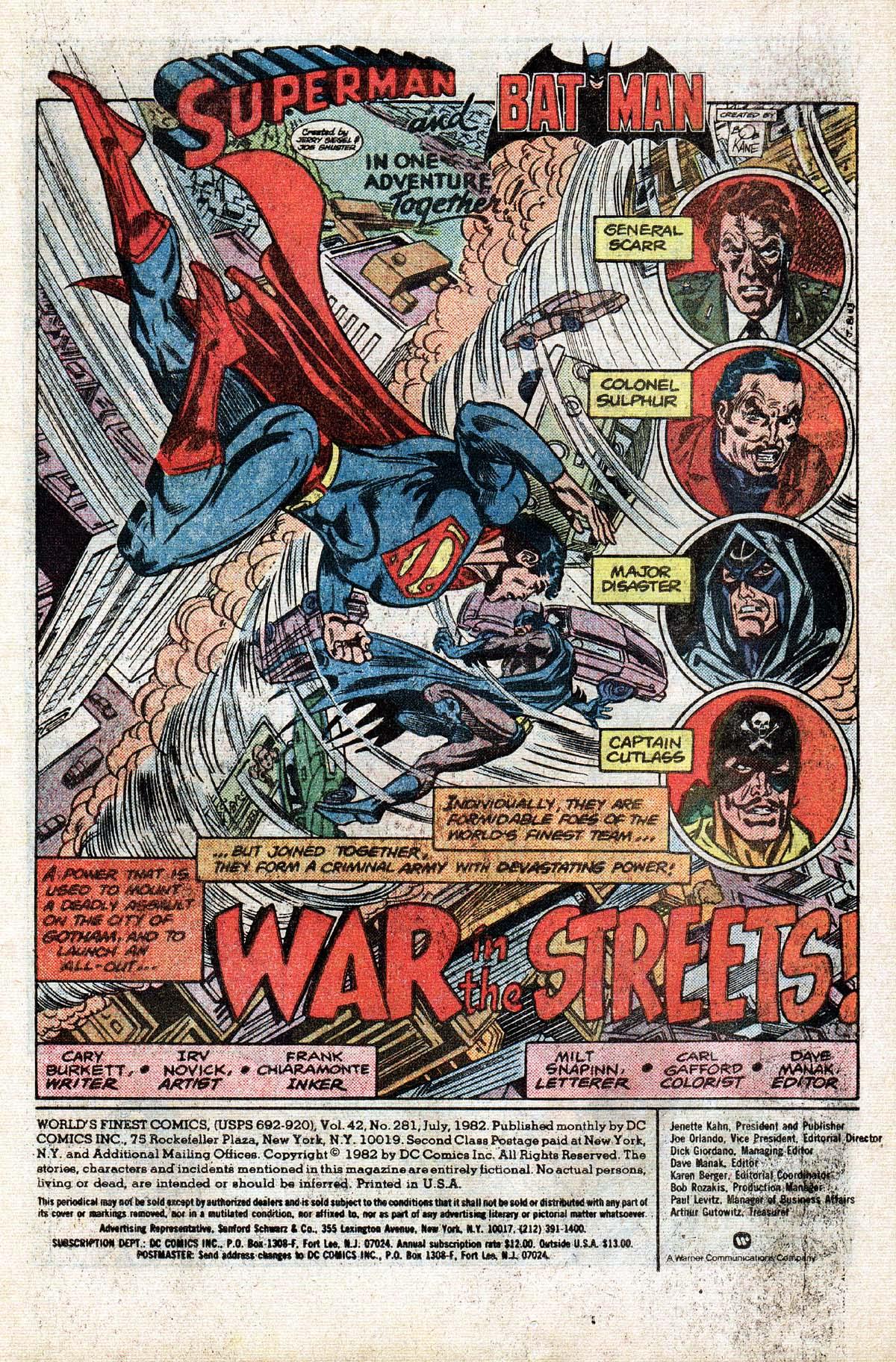 Read online World's Finest Comics comic -  Issue #281 - 2