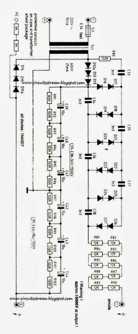 circuit wiring solution 10 kv high voltage power supply wiring diagram schematic [ 580 x 1399 Pixel ]