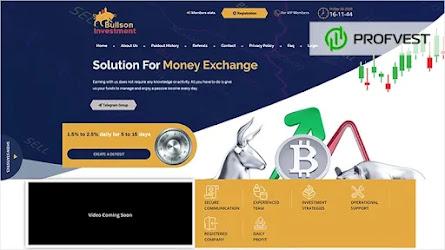 🥇Bullson-Investment.com обзор и отзывы [Бонус 5%]