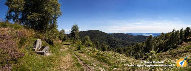 La mulattiera della Linea Cadorna che conduce al monte Spalavera