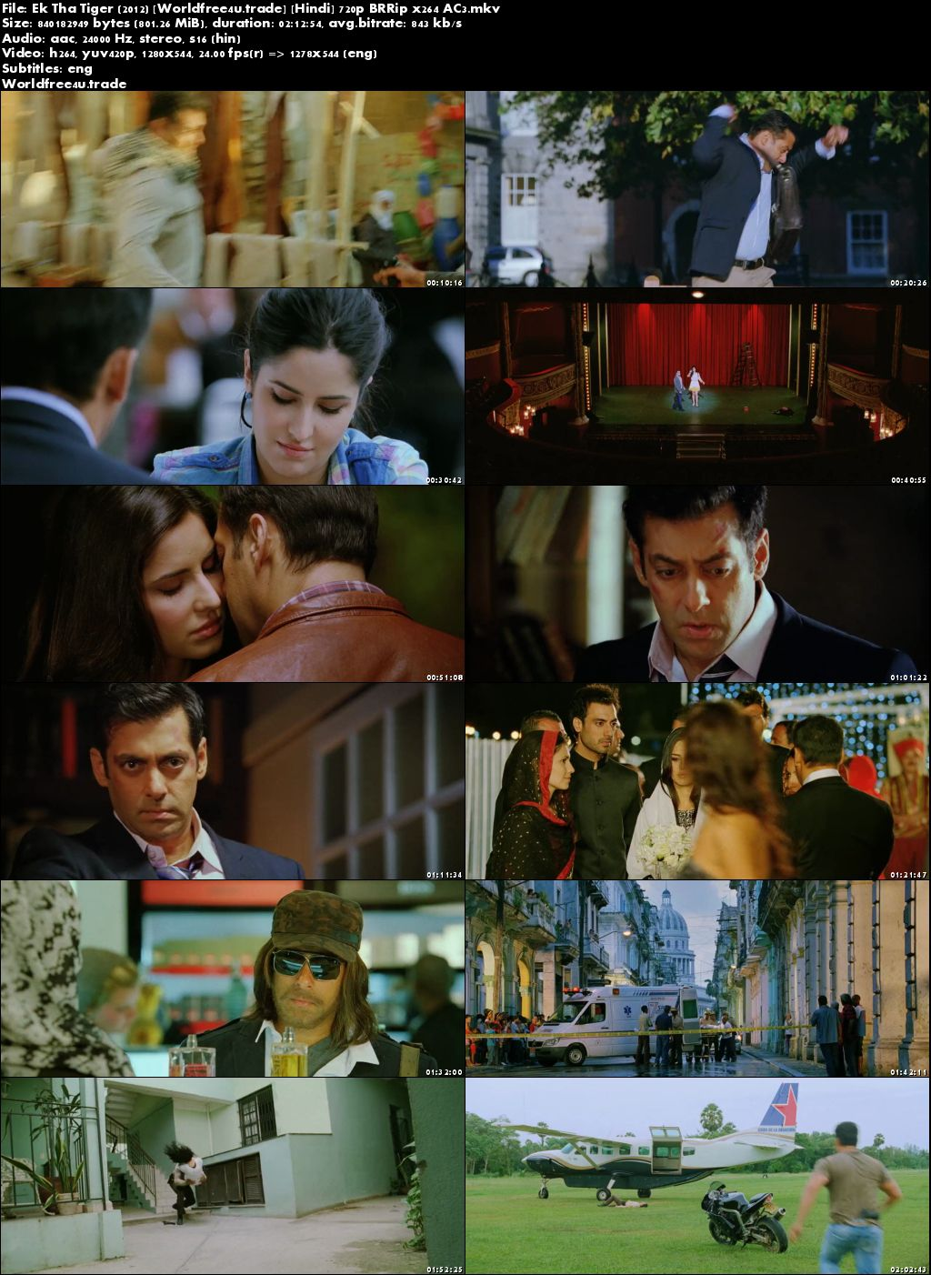 Screen Shoot of Ek Tha Tiger 2012 Full Hindi Movie Download BRRip 720p