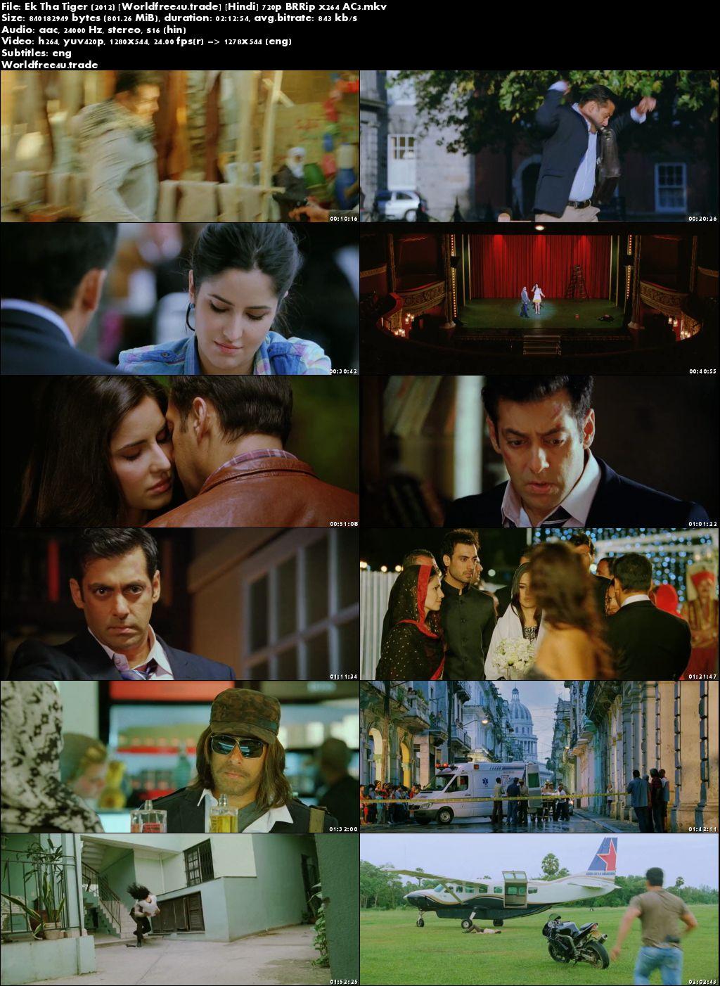 Screen Shoot of Ek Tha Tiger 2012 Full Hindi Movie Download BRRip 720p