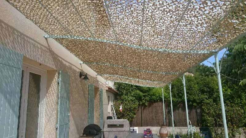 tenda rete ombreggiante
