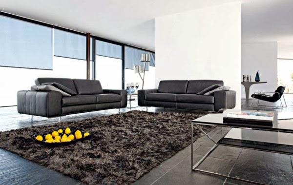 sala moderna con sofs negros cuando se eligen muebles negros para la sala se debe prestar mucha atencin a la iluminacin evitar oscurecer el ambiente