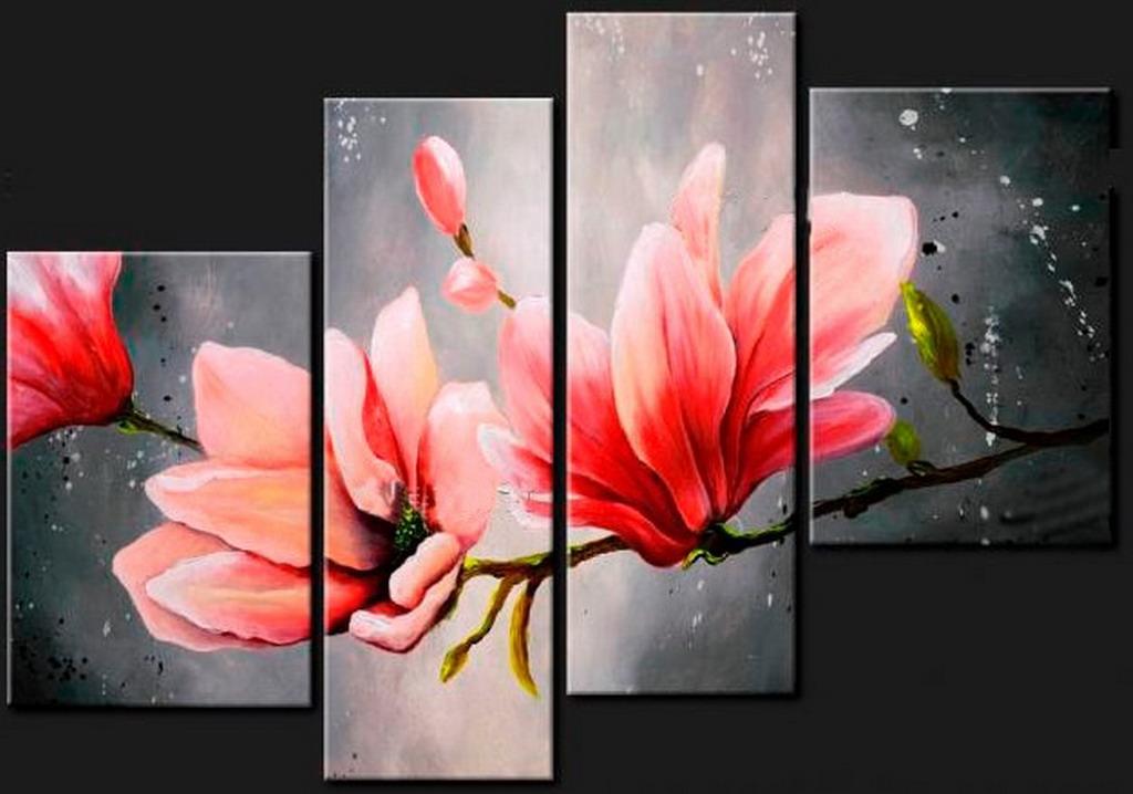 Im genes arte pinturas pinturas de flores al leo modernos for Cuadros de manualidades modernos
