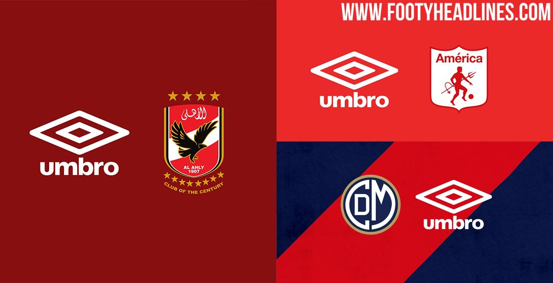 UK Double Diamond brand Umbro recently announced not less than three  important kit deals with teams worldwide. 9bd1aab28