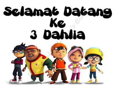 Pengurusan Kelas - Tema Boboi Boy (Editable)