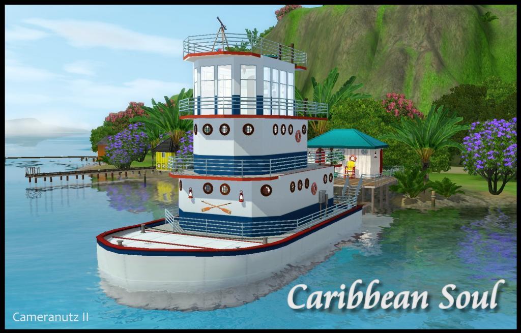 Caribbean Soul: My Sims 3 Blog: Caribbean Soul Houseboat By Cameranutz II