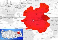 Horasan ilçesinin nerede olduğunu gösteren harita