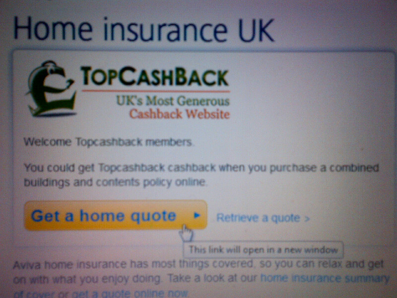 The Chief Executive  Cashback Sites   Do They Work  TopCashBack screen grab   will I ever get my     80 80 Cashback from Aviva