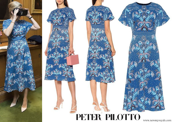 The Countess of Wessex wore a PETER PILOTTO Floral printed dress