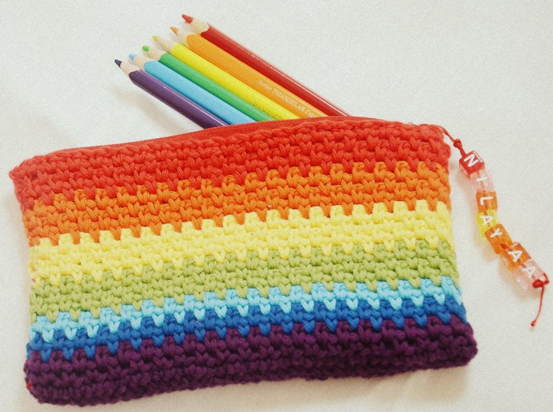 Diaper Mum Crochet Pencil Cases
