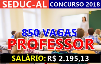 Concurso SEDUC-AL 2018 Professor