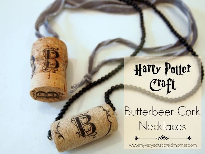 Harry Potter Craft Idea: Luna Lovegood inspired Butterbeer Cork Necklaces  via @mvemother