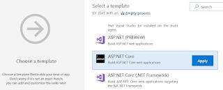 CI build for an ASP.NET Core app