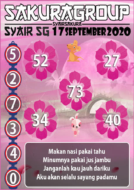 Kode syair Singapore Kamis 17 September 2020 139