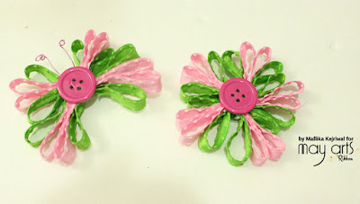 Looped Flower and Butterfly Embellishments - May Arts Post