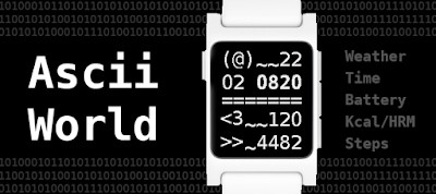 Ascii world watchface - Pebble 2