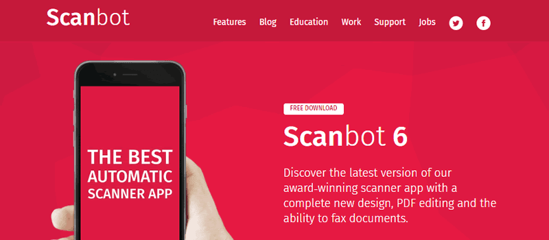 Use Scanbot for high quality scan