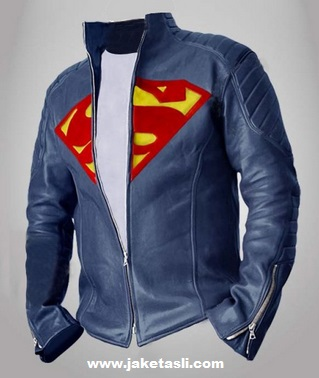 Jual jaket kulit man of steel