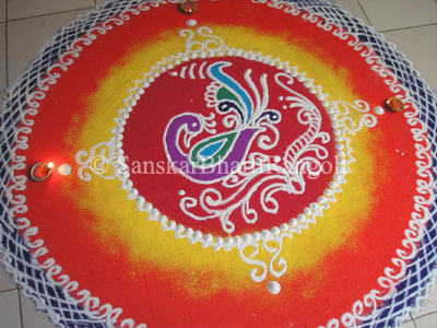 Round-Up of Peacock Rangoli Designs with Photos - Sanskar ...