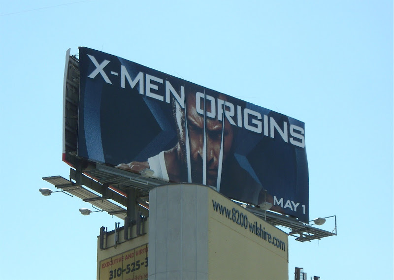 X-Men Origins Wolverine billboard