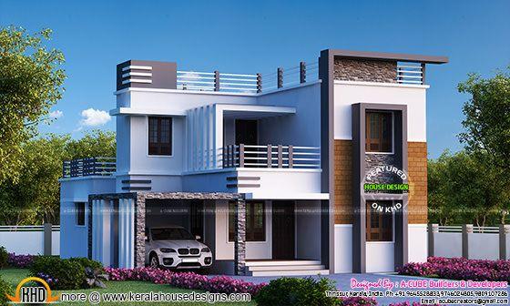 4 Bedroom Flat Roof Modern Home 2655 Sq Ft Kerala Home